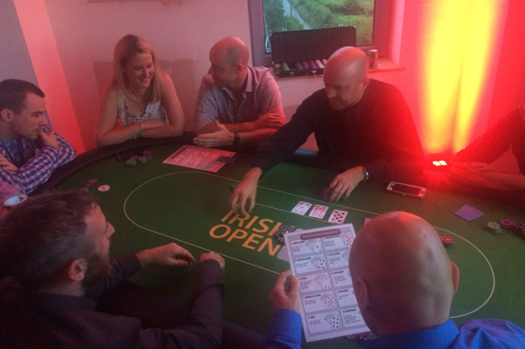 Private poker casino night event management