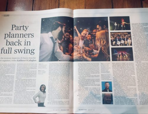 'Party Planners Back In Full Swing' in Irish Times 05/19