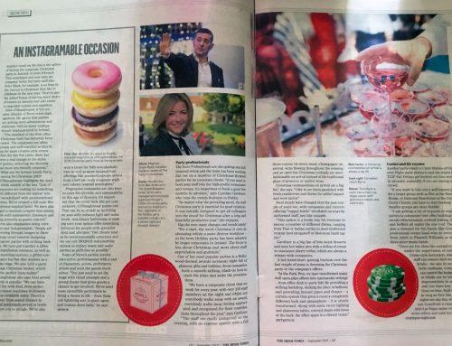 'Party Ideas Yule Love' in Irish Times 09/19